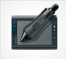 写字板电脑平板科技素材