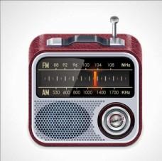 收音机广播机器卡通素材