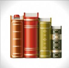 书本一排书书架图书馆卡通书词典