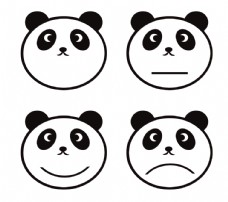 熊貓臉 簡筆圖