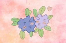 小清新卡通植物