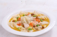 滑菇鱼肚豆腐