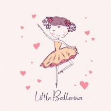 可爱少女创意插画