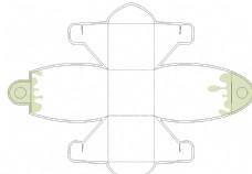 蛋糕包裝盒設計平面圖