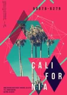 椰子樹攝影剪切潮流藝術海報
