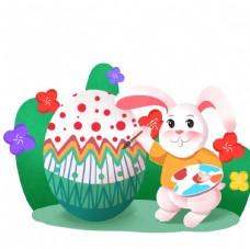 兔子畫彩蛋
