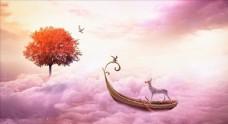 粉紅色夢幻童話LED背景