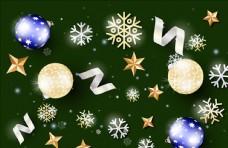 圣诞节雪花铃铛礼物礼品装饰品