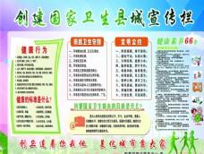 创建国家卫生县城宣传栏