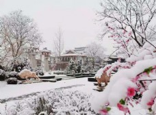 荆轲故居燕都古城雪景