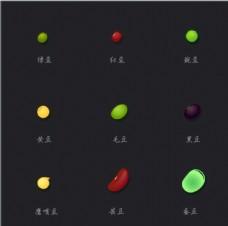 食物矢量图 各种豆类