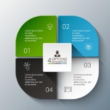 扇形办公信息数据图表