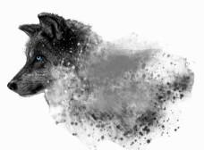 狗狗水墨效果图