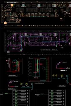 办公室全套施工图纸包括水电图