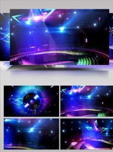 蓝色紫色绚丽多彩舞台背景视频