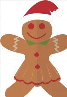 圣诞节装饰元素姜仁饼