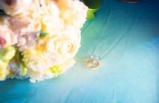 鮮花戒指鉆石戒指結婚鉆戒婚禮
