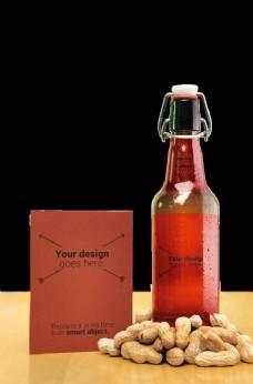 啤酒瓶子罐裝包裝效果圖樣機