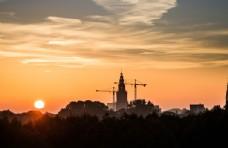 城市建设夕阳