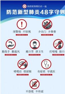 上海市防范新型肺炎48字守则