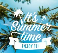 创意椰树 夏季海报