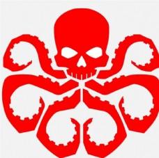 红骷髅标志
