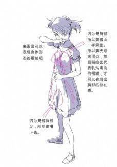 女生裙子动画人体动态