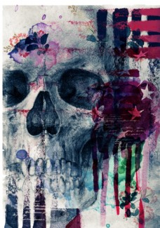 手绘头骨骷髅潮流艺术海报