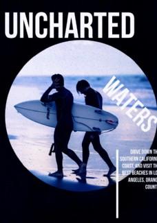 海滩冲浪人摄影剪切潮流艺术海报
