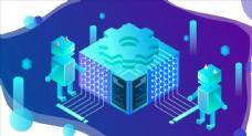 AI人工智能科技網絡機器