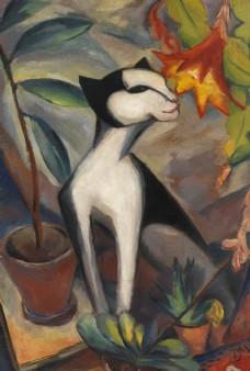 欧美抽象油画动物