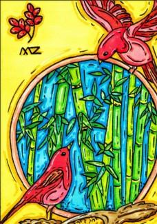 插画设计 大自然 绿色
