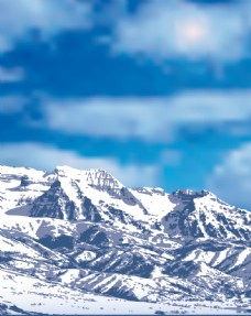 雪山喜马拉雅山脉卡通设计素材背