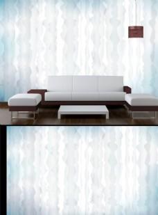 抽象线条电视背景墙