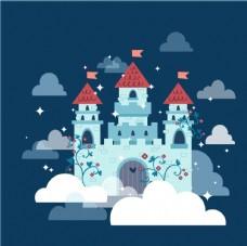 矢量古典童话城堡