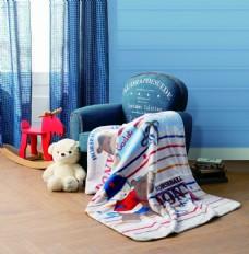 儿童绅士熊宝毯