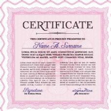 国外证书荣誉颁奖防伪纹理设计