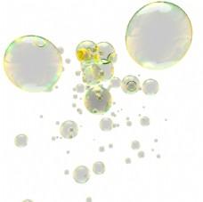 彩色透明肥皂泡气泡水泡泡泡元素