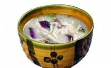 榄菜小鱼粥