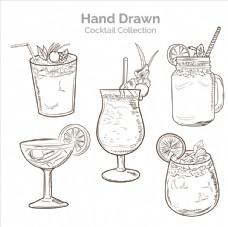 手绘饮料插画设计