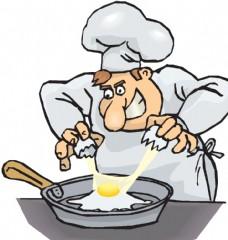 煎鸡蛋 厨师 鸡蛋