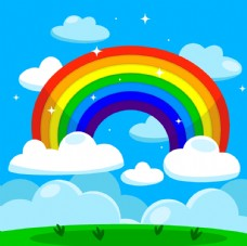 卡通儿童节精美彩虹桥