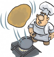 厨师 烙饼